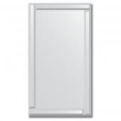 Зеркало с зеркальным обрамлением (серебро) 50х90 см. Серия V-1.