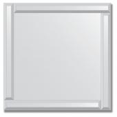 Зеркало с зеркальным обрамлением (серебро) 60х60 см. Серия V-1.