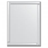 Зеркало с зеркальным обрамлением (серебро) 60х80 см. Серия V-1.