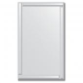 Зеркало с зеркальным обрамлением (серебро) 60х100 см. Серия V-1.
