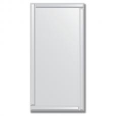 Зеркало с зеркальным обрамлением (серебро) 60х120 см. Серия V-1.