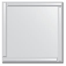 Зеркало с зеркальным обрамлением (серебро) 70х70 см. Серия V-1.