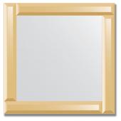 Зеркало с зеркальным обрамлением (бронза) 50х50 см. Серия V-1.