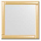 Зеркало с зеркальным обрамлением (бронза) 60х60 см. Серия V-1.