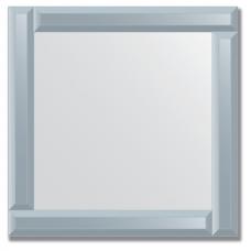 Зеркало с зеркальным обрамлением (графит) 50х50 см. Серия V-1.