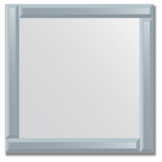 Зеркало с зеркальным обрамлением (графит) 60х60 см. Серия V-1.