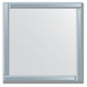 Зеркало с зеркальным обрамлением (графит) 70х70 см. Серия V-1.