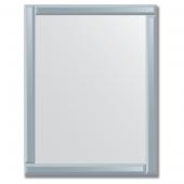 Зеркало с зеркальным обрамлением (графит) 70х90 см. Серия V-1.