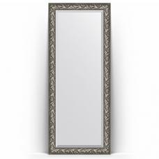 Зеркало напольное 84х203 см в багетной раме - византия серебро 99 мм.
