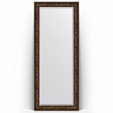 Зеркало напольное 84х203 см в багетной раме - византия бронза 99 мм.