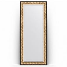 Зеркало напольное 85х205 см в багетной раме - барокко золото 106 мм.