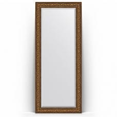 Зеркало напольное 85х205 см в багетной раме - виньетка состаренная бронза 109 мм.