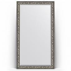 Зеркало напольное 114х203 см в багетной раме - византия серебро 99 мм.