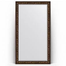 Зеркало напольное 114х203 см в багетной раме - византия бронза 99 мм.