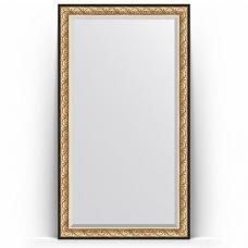 Зеркало напольное 115х205 см в багетной раме - барокко золото 106 мм.