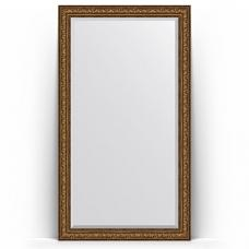 Зеркало напольное 115х205 см в багетной раме - виньетка состаренная бронза 109 мм.