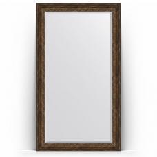 Зеркало напольное 117х207 см в багетной раме - состаренное дерево с орнаментом 120 мм.