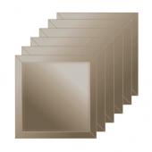 Зеркальная плитка с фацетом 10 мм (бронза) (квадрат 10х10 см) - комплект 6 шт.