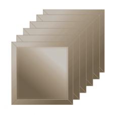 Зеркальная плитка с фацетом 10 мм (бронза) (квадрат 25х25 см) - комплект 6 шт.