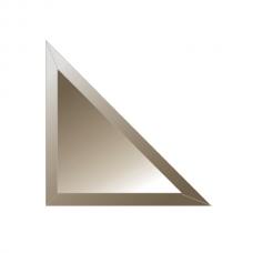 Зеркальная плитка с фацетом 15 мм (бронза) (треугольник 30х30 см)