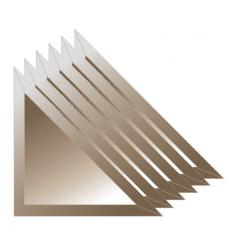 Зеркальная плитка с фацетом 10 мм (бронза) (треугольник 25х25 см) - комплект 6 шт.