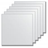 Зеркальная плитка без фацета (серебро) (квадрат 15х15 см) - комплект 6 шт.