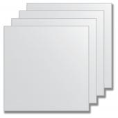 Зеркальная плитка без фацета (серебро) (квадрат 30х30 см) - комплект 4 шт.