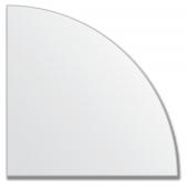 Зеркальная плитка без фацета (серебро) (четверть круга 15х15 см).