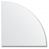 Зеркальная плитка без фацета (серебро) (четверть круга 20х20 см).