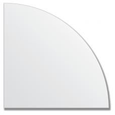Зеркальная плитка без фацета (серебро) (четверть круга 25х25 см).