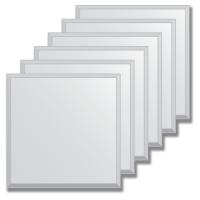 Зеркальная плитка с фацетом 15 мм (серебро) (квадрат 15х15 см) - комплект 6 шт.