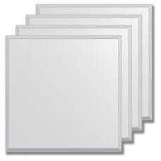 Зеркальная плитка с фацетом 5 мм (серебро) (квадрат 20х20 см) - комплект 4 шт.