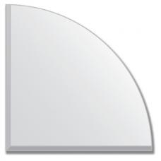 Зеркальная плитка с фацетом 5 мм (серебро) (четверть круга 15х15 см)
