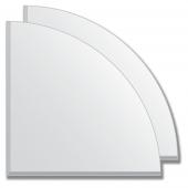 Зеркальная плитка с фацетом 5 мм (серебро) (четверть круга 20х20 см) - комплект 2 шт.