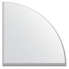 Зеркальная плитка с фацетом 5 мм (серебро) (четверть круга 25х25 см)