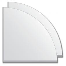 Зеркальная плитка с фацетом 5 мм (серебро) (четверть круга 25х25 см) - комплект 2 шт.