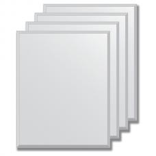 Зеркальная плитка с фацетом 5 мм (серебро) (20х25 см) - комплект 4 шт.