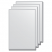Зеркальная плитка с фацетом 5 мм (серебро) (20х30 см) - комплект 4 шт.