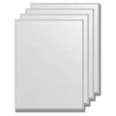 Зеркальная плитка с фацетом 5 мм (серебро) (25х33 см) - комплект 4 шт.
