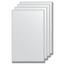 Зеркальная плитка с фацетом 5 мм (серебро) (25х40 см) - комплект 4 шт.