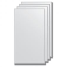 Зеркальная плитка с фацетом 5 мм (серебро) (25х45 см) - комплект 4 шт.