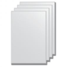 Зеркальная плитка с фацетом 5 мм (серебро) (30х45 см) - комплект 4 шт.