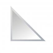 Зеркальная плитка с фацетом 10 мм (серебро) (треугольник 15х15 см)