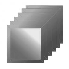 Зеркальная плитка с фацетом 15 мм (графит) (квадрат 20х20 см) - комплект 6 шт.