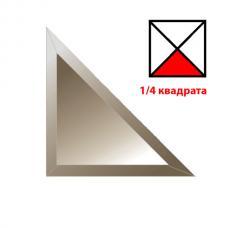 Зеркальная плитка с фацетом 15 мм (бронза) (треугольник 177х177 мм)