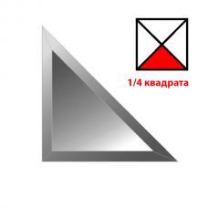 Зеркальная плитка с фацетом 15 мм (графит) (треугольник 177х177 мм)
